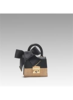 Black Ribbon Kilitli Mini Çanta